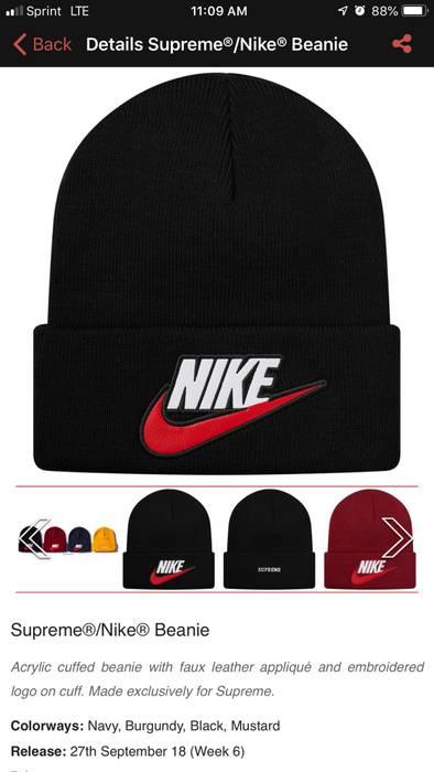 Supreme FW 18 Week 6 Supreme Nike Beanie Black Size one size - Hats ... 504955b4ed2
