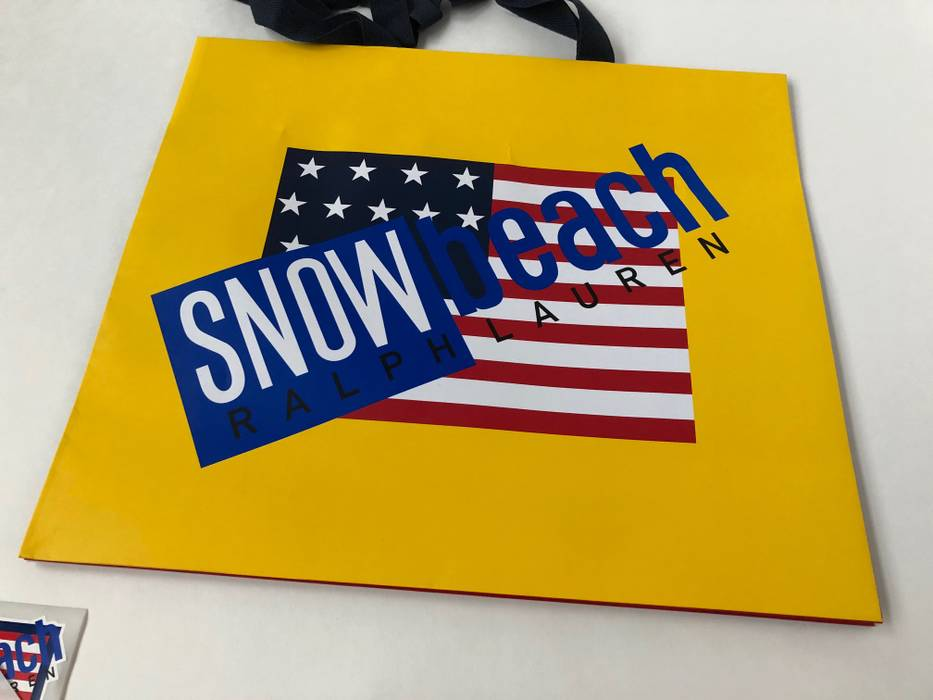 151f9c9a08 Polo Ralph Lauren RALPH LAUREN POLO  SNOW BEACH  BAG   4 STICKERS SHOPPING  1993