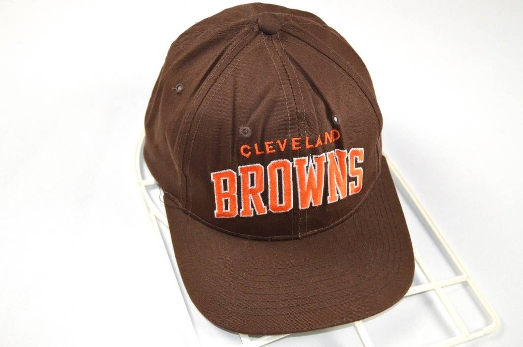 Vintage Vintage 90s STARTER Cleveland Browns Spell Out NFL Football  Snapback Hat Brown Size ONE SIZE d44fce9c5f6
