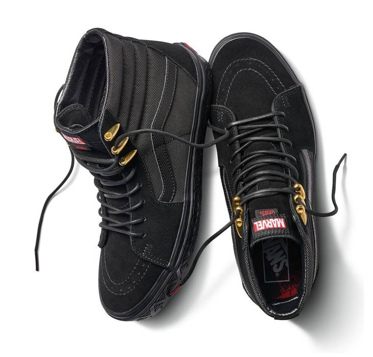 Vans Vans X Marvel Sk8 Hi Black Panther Size 10 Hi Top Sneakers