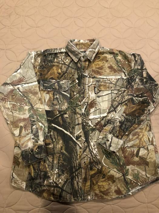 Vintage Realtree Camo Surplus Shirt Army Levis Carhartt Supreme Bape ...