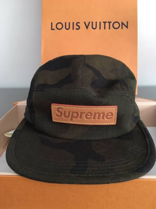 Supreme Supreme Louis Vuitton Camp Cap Camo 5 Panel Size one size ... b02d74089566