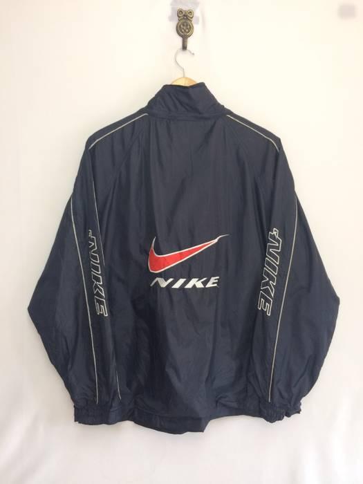 Nike. VINTAGE NIKE PREMIER WINDBREAKER JACKET FULL ZIPPER BIG LOGO ... 045c59c55
