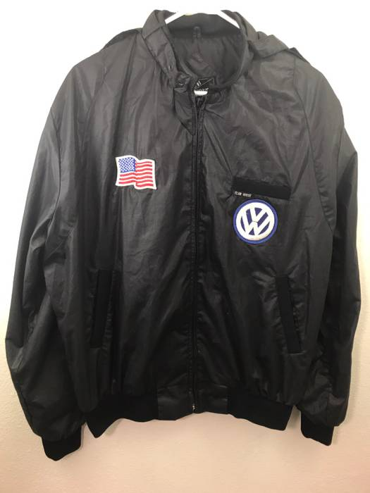 Vintage Club House Jacket Members Only Style Auto Patches
