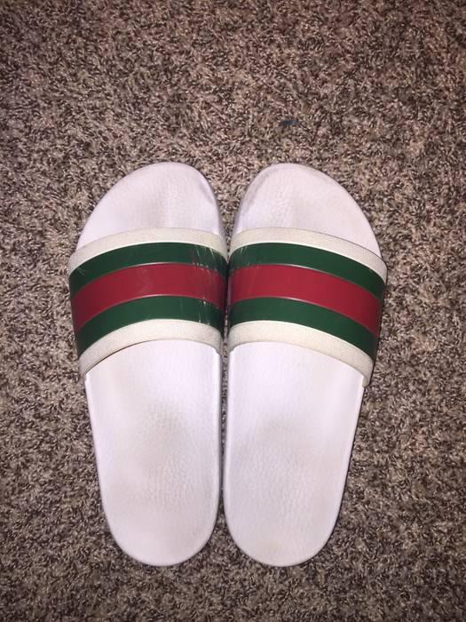 69739d78d01 Gucci Gucci Unisex Sandals Flip Flops Slides White Size 8 - Sandals ...
