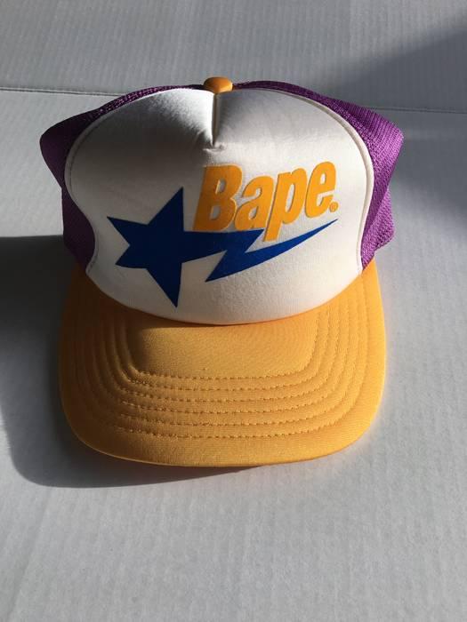Bape BAPE LA Trucker Hat Size one size - Hats for Sale - Grailed 6f544e54f