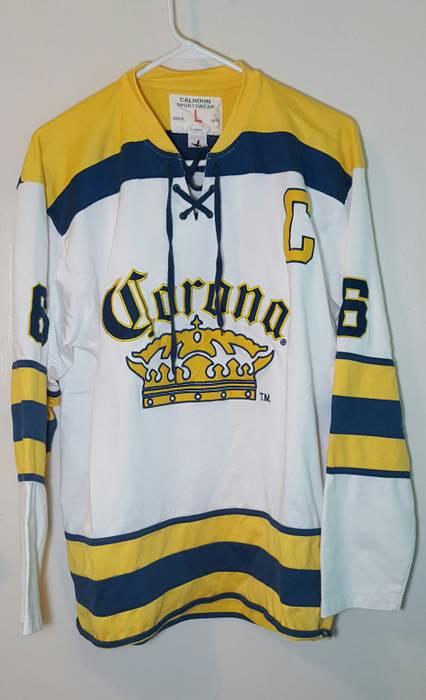 Corona Corona Promo Hockey Jersey longsleeve tee Mens Sz L Size l ... 25cf7226614