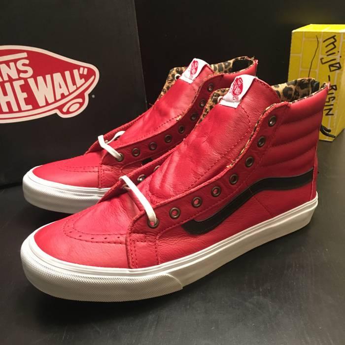 Vans NEW Vans Leather SK8 Hi Slim Zip Red Leopard Men s Size 9.5 Size US 9.5 3ecaf0a94c