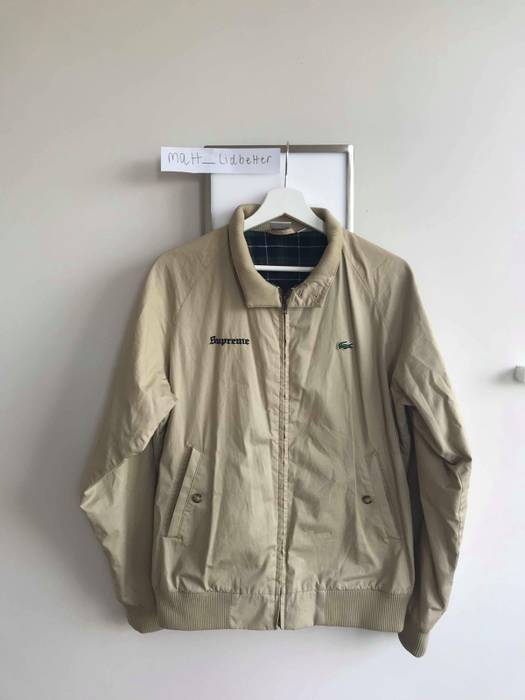 75b7c05bc6d3a Supreme Supreme X Lacoste Harrington Jacket Khaki Size US M   EU 48-50