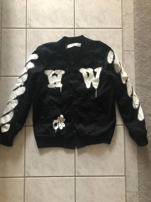 72c3f58306bd Off-White Off White Graffiti Jacket Size l - Bombers for Sale - Grailed