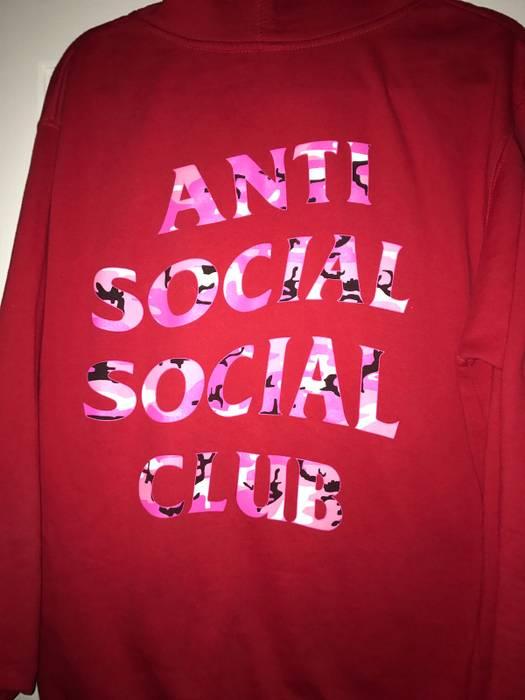 b588807c9e70 Antisocial Social Club. ANTI SOCIAL SOCIAL CLUB BEVERLY RED HOODIE. Size  US  M   EU 48-50 ...