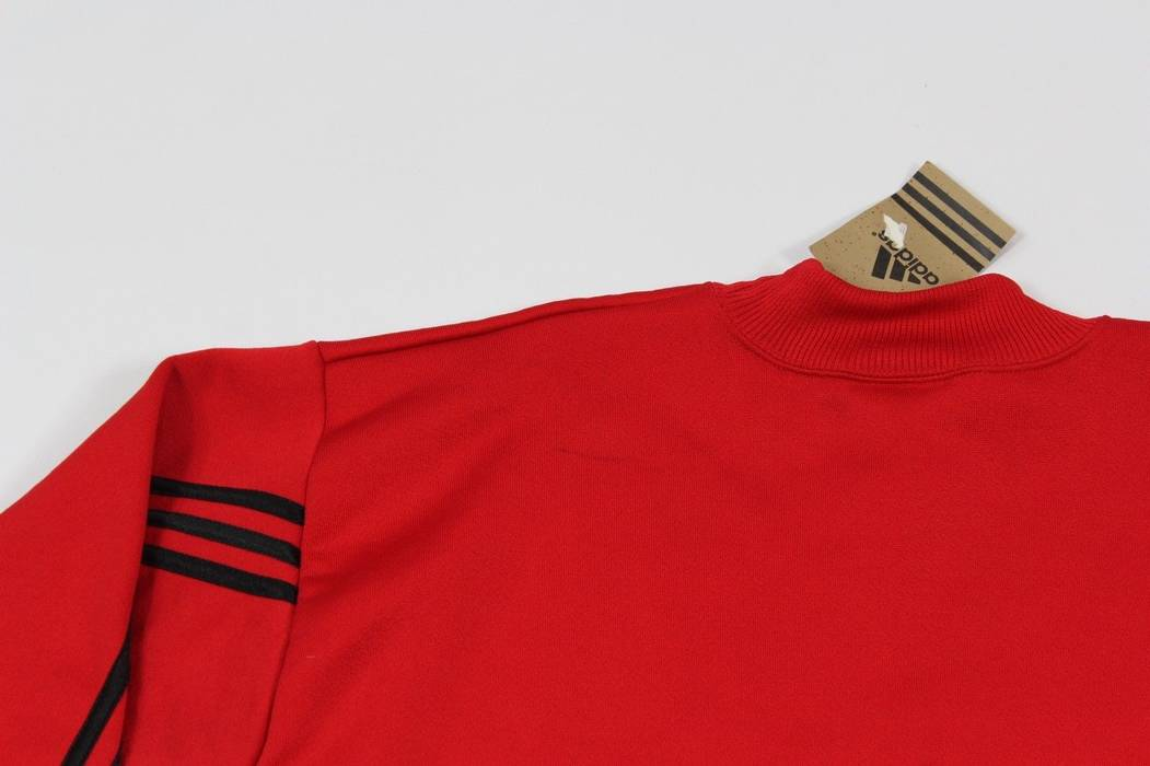 50bc4a44cbfd Adidas Vintage 90s New ADIDAS Mens Medium Spell Out Striped Crewneck  Sweater Red Yellow Size US