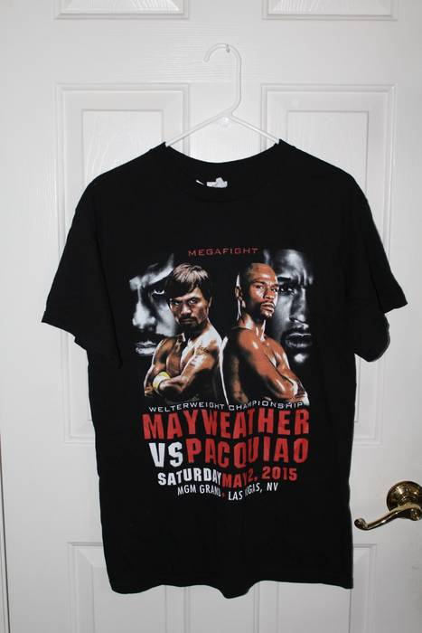 Vintage Mayweather vs Pacman Fight Night Shirt Size m - Short Sleeve ... 84bfb80ea