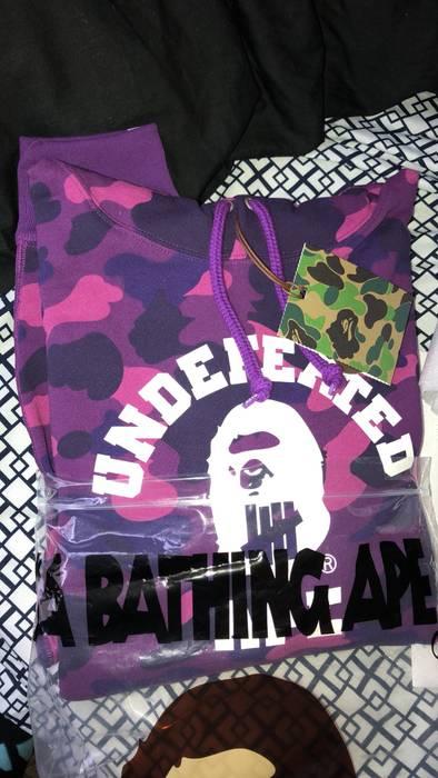290067e2936d Bape Bape X Undefeated Color Camo College Pullover Purple Size US L   EU 52-