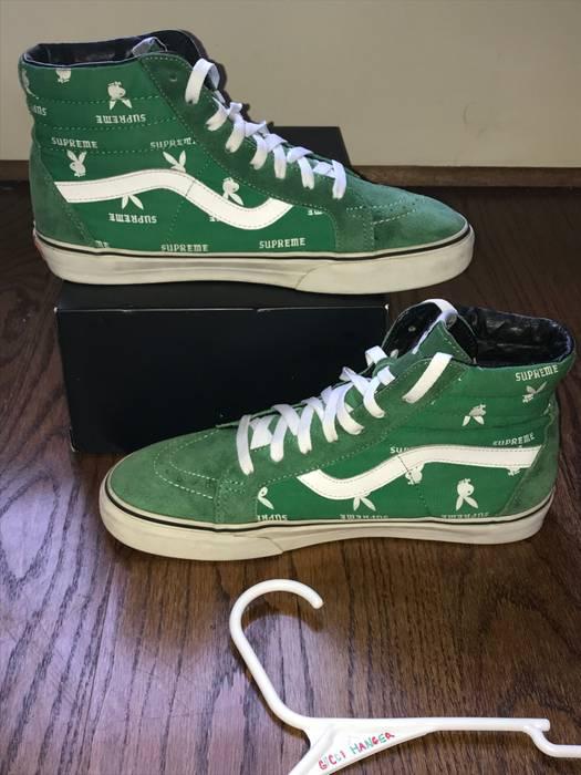 4e5a19850f Supreme Supreme x Vans Green Playboy Sk8-Hi sz 9.5 Size 9.5 - Hi-Top ...