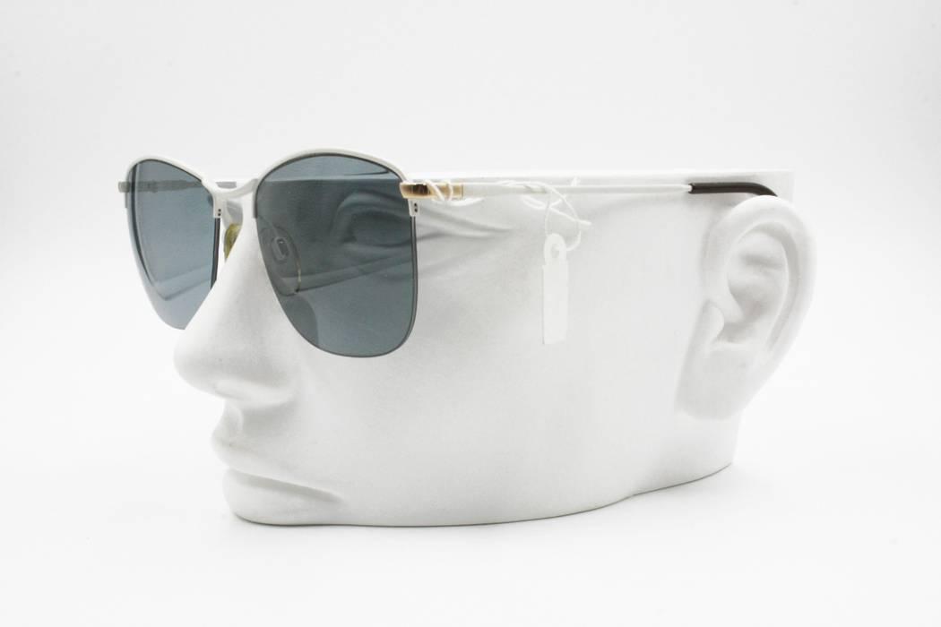 Luxottica Luxottica White Aviator Sunglasses half rimmed wired ... 23467dfb2