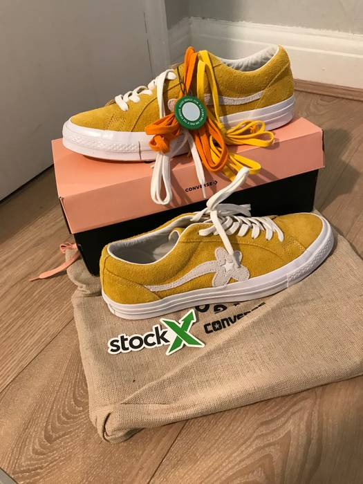 244803410423 Converse CONVERSE ONE STAR OX TYLER THE CREATOR GOLF LE FLEUR SOLAR POWER  Size US 10.5