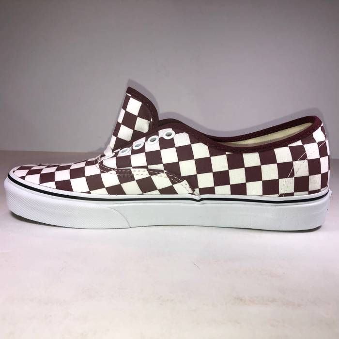 6b60f46d040 Vans Vans Authentic Checkerboard Port Royale (Burgundy)   True White  Sneakers Size US 8