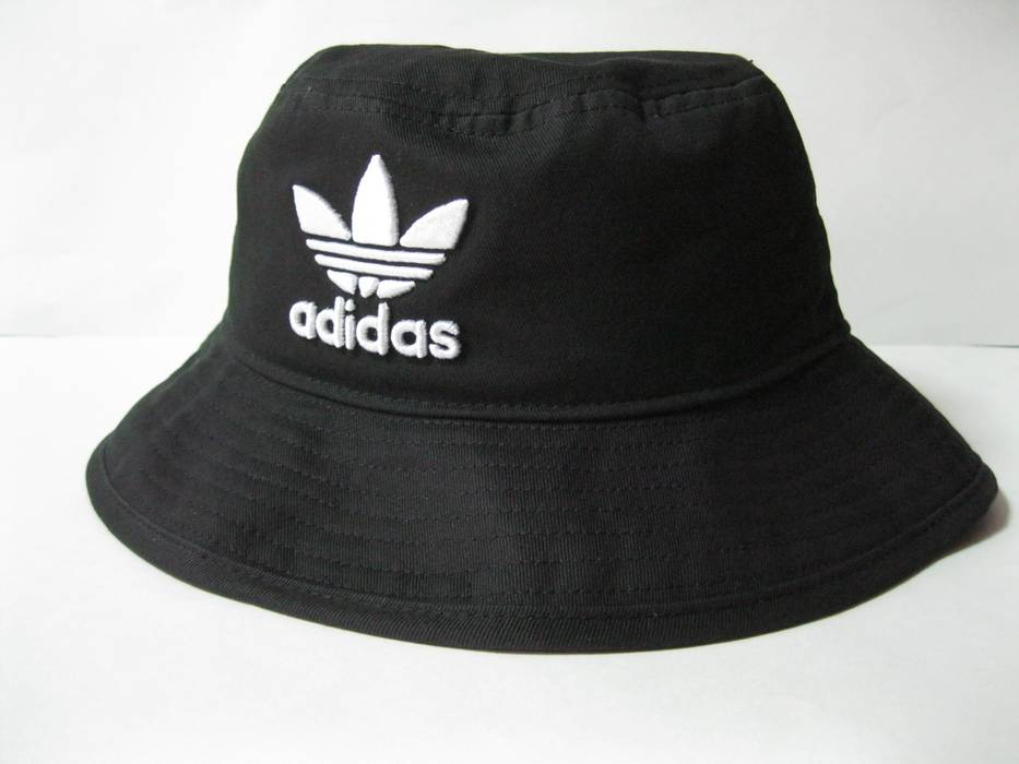 Adidas Originals Womens Adicolor Bucket Hat Black OSFW BK7345 Size ONE SIZE 0a8002e938