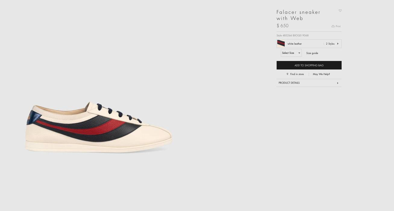 039b1e41b31 Gucci GUCCI Falacer sneaker with Web Size 10 - Low-Top Sneakers for ...