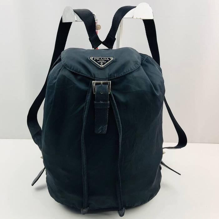 99a0c0d21c06 ... new arrivals vintage prada dark blue nylon backpack size one size 36032  cf63a