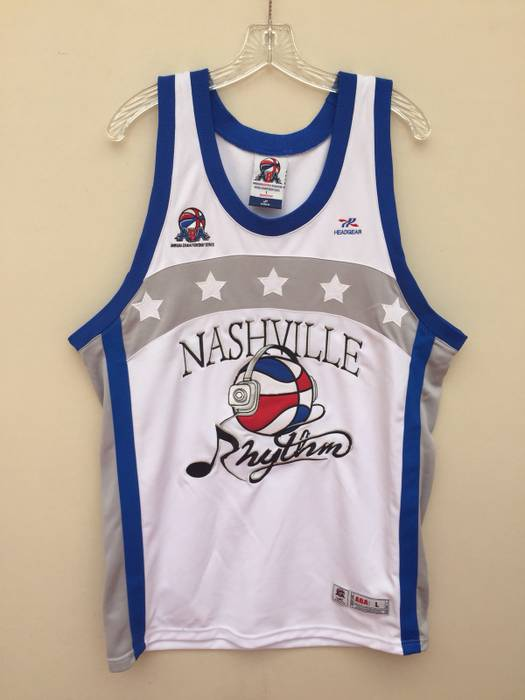 Vintage Vintage ABA Nashville Rhythm ABA Not NBA All Embroidered ... ab988bf79