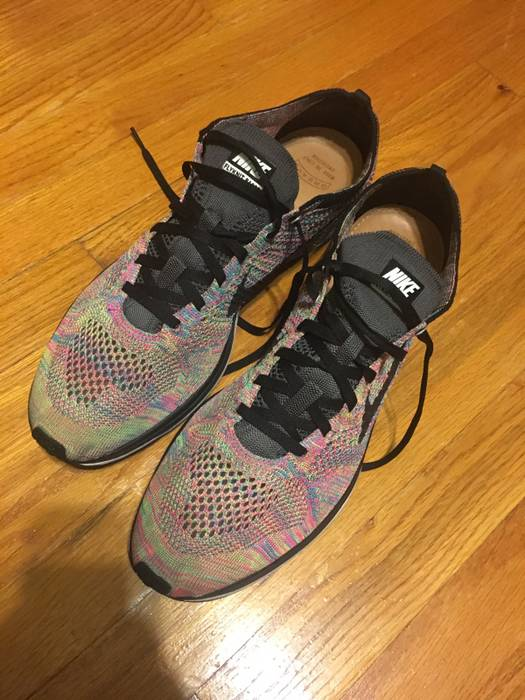 lowest price c865f f210a Nike Nike Multicolor Flyknit Racers Running Men s Shoe Sneaker Size 13  Narrow 2016 Nikelab Adidas Puma Knit 3M Rainbow 526628 004 Pink Grey Black  ...