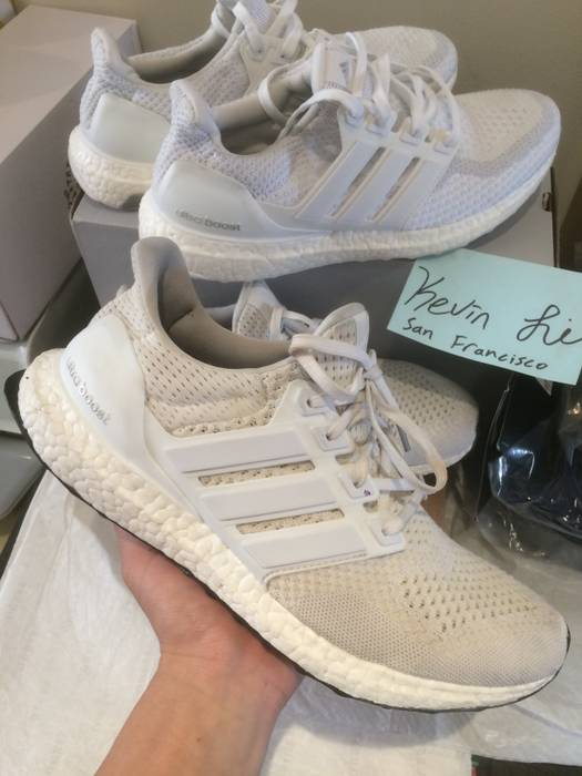 4762bcefecb2f Adidas Adidas Ultra Boost Triple White 1.0 Size 9 - Low-Top Sneakers ...
