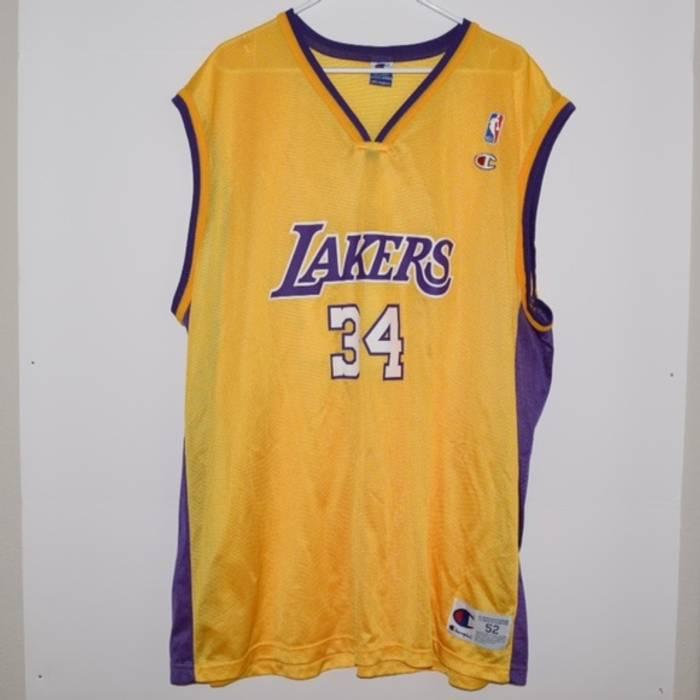 e12e89bf5b52 Champion Vintage Champion Shaquille O neal LA Lakers Jersey Size xxl ...