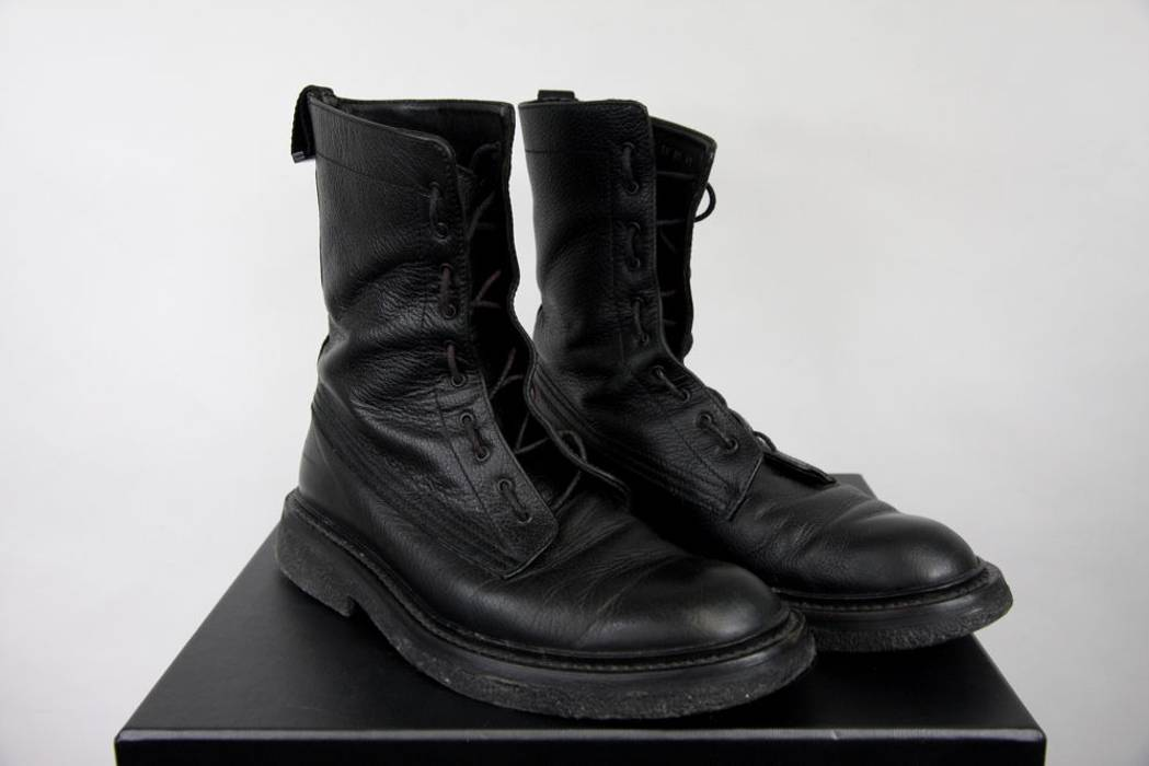 bf9d73968605 Dior AW07 Dior Homme Black Leather Military Combat Boots 41 8 42 9 ...
