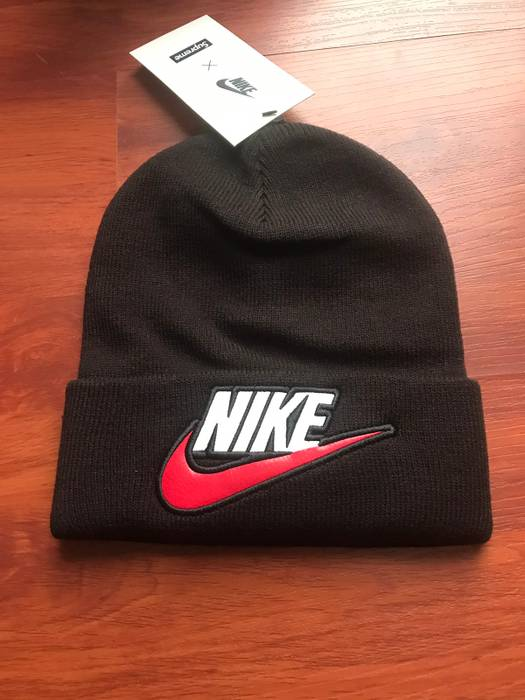 Supreme Nike x Supreme Black Beanie Size one size - Hats for Sale ... 224bc7bbb14b