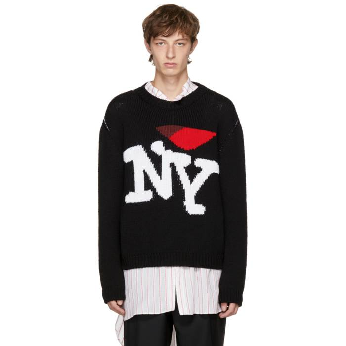 Raf Simons I Heart Ny Sweater Black Size M Sweaters Knitwear