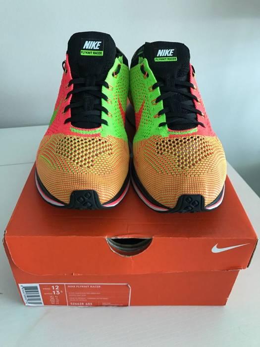 d8bb5a38f876 Nike  Final Drop  Nike Flyknit Racer Hyper Punch Electric Green-BLK Sneakers