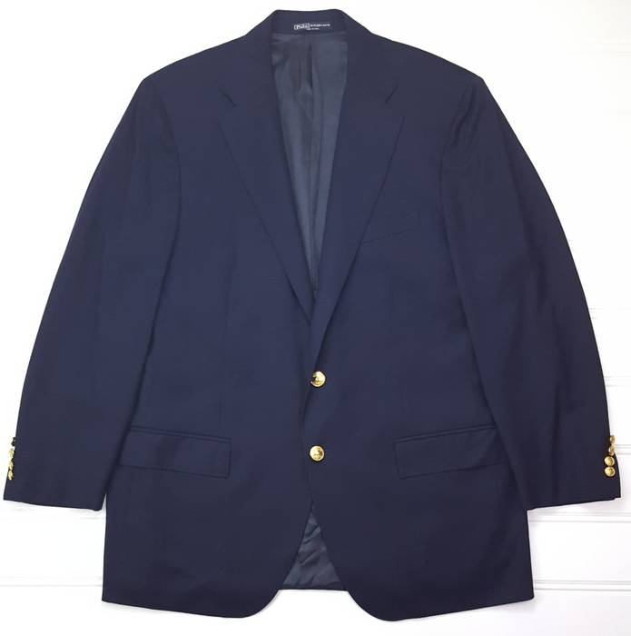 7c1441f95b Polo Ralph Lauren Polo Ralph Lauren Blue Label x Corneliani Blazer 46L 2  Button Navy Italy