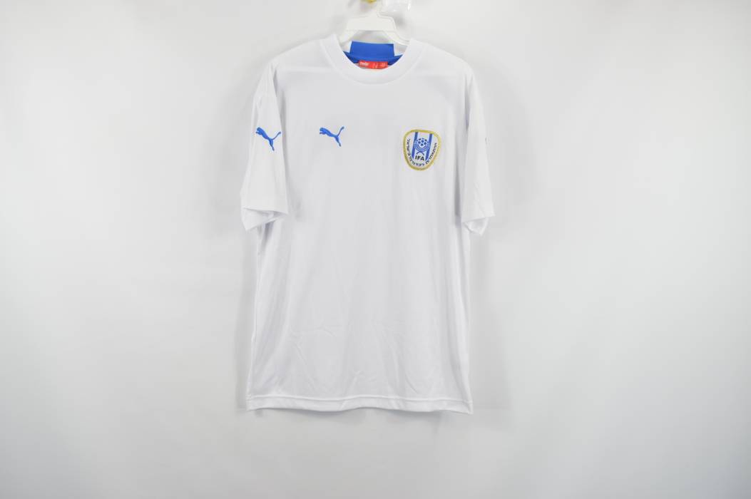 Puma. PUMA Mens Small Israel Israeli National Team World Cup Soccer Jersey  White 084c5674d