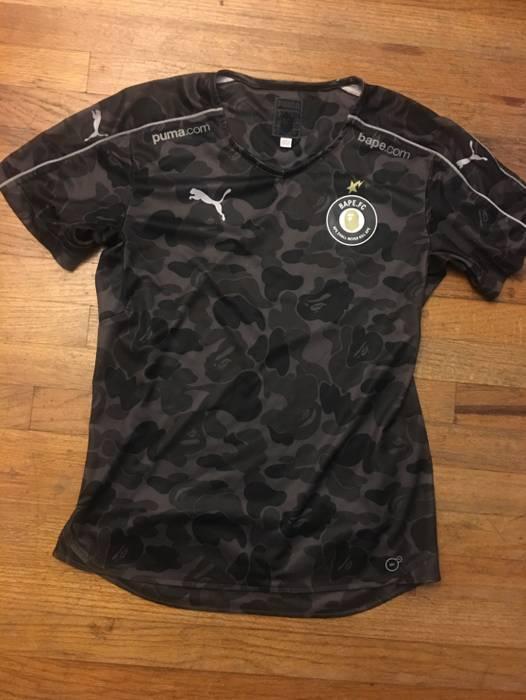 4dc7f28f5b10 Bape Bathing Ape (BAPE) x PUMA FC Soccer Jersey Black Camo Size m ...