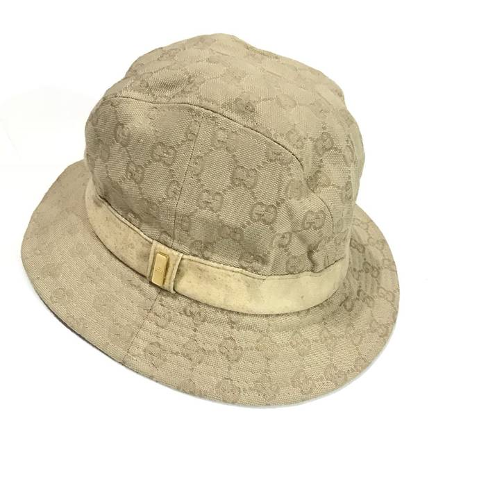 a5d801f8c47d Gucci. Vintage Gucci Monogram Bucket Hat Made in Italy Good Condition Not louis  vuitton ...