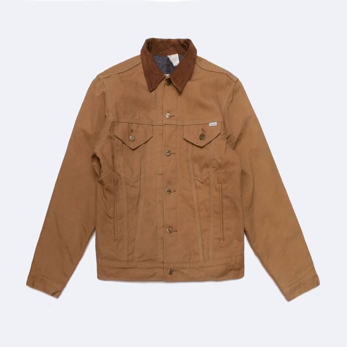 carhartt usa duck canvas blanket lined jacket size m denim jackets