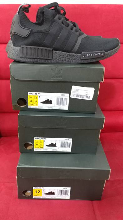 7190349ea36df9 Adidas Adidas PK NMD R1 Japan Triple Black Size 12 - Low-Top ...