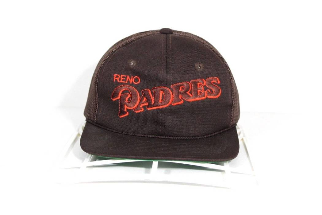 Vintage Rare Deadstock 80s Reno Padres Minor League Baseball Mesh Snapback  Hat Cap Brown Size ONE 108000818d5