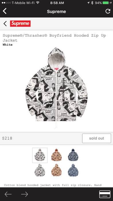 6a224c40009c Supreme Boyfriend Hooded Zip Up Jacket Size m - Sweatshirts ...
