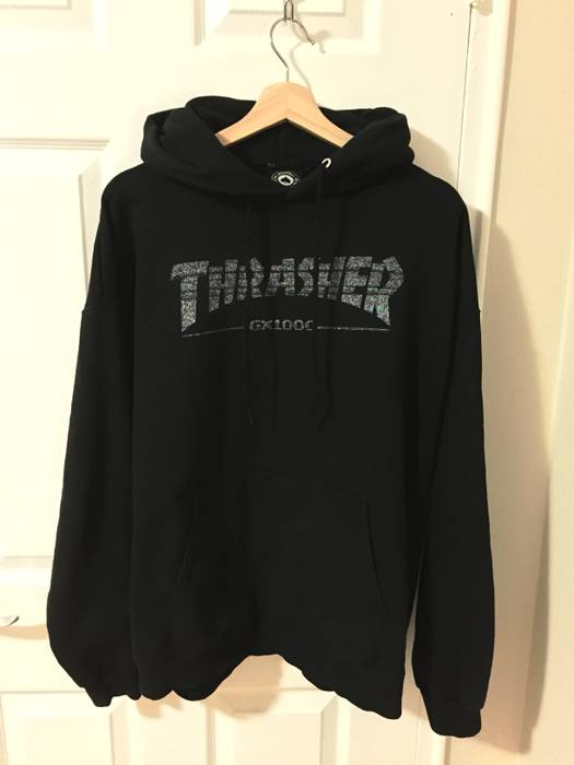 Thrasher Thrasher x GX1000 Hoodie Black Size l - Sweatshirts ... 87e19b13d