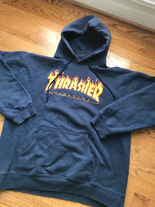 699ed54a422a Thrasher Flame Logo Hoodie Navy Size m - Sweatshirts   Hoodies for ...