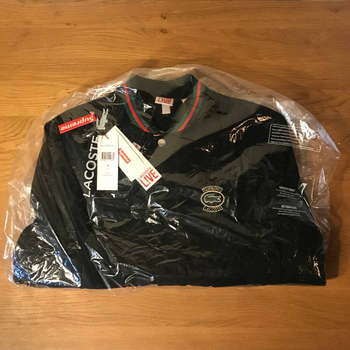 Supreme Supreme X Lacoste Wool Varsity Jacket Black Size S