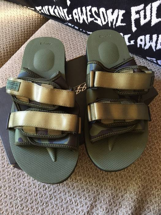 f585ca071b93 Stussy Suicoke X Stussy Camo Moto-Stu Slides Size 10 - Sandals for ...