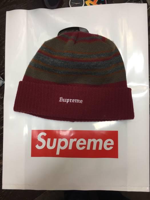 606865dda7893 Supreme Multi Stripe Beanie Size one size - Hats for Sale - Grailed