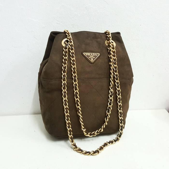 Prada 🔥🔥RARE DESIGN!!!!🔥🔥 Authentic Prada Suede Leather Chain ... ecab334965bf1
