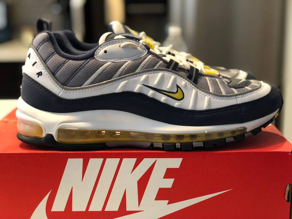 "Nike NIKE AIR MAX 98 ""Tour Yellow"" Size 9.5 - Low-Top Sneakers for ... fa143a92f"