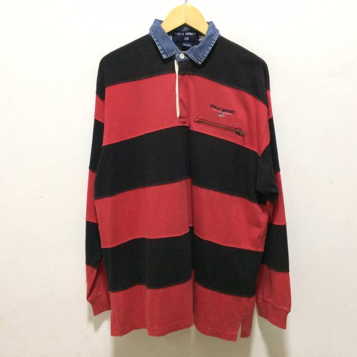 9337452a ... wholesale polo ralph lauren polo sport rugby shirt polo ralph lauren  stripe design usa flag size