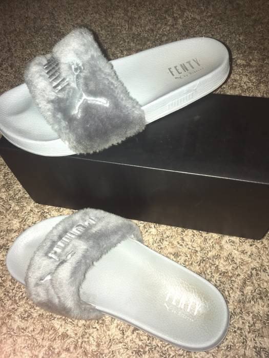 Puma X Rihanna Puma Rihanna Fenty Slides Grey Size 10 - Low-Top ... 6b6c1d9aa5bd